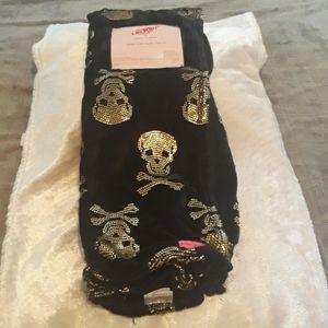 Skull & Bones Plush Throw by Betsey Johnson